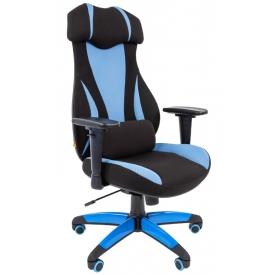 Кресло Game-14 голубой/черный