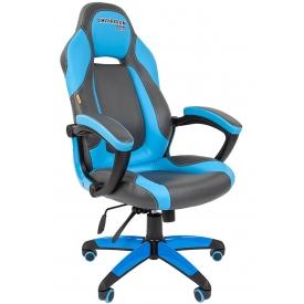 Кресло Game-20 голубой/серый