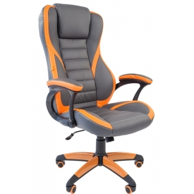 Кресло Game-22 оранжевый/серый