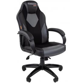Кресло CHAIRMAN GAME-17 серый/черный