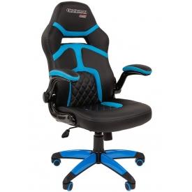 Кресло CHAIRMAN GAME-18 голубой/черный