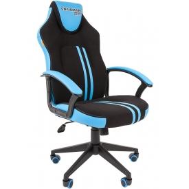 Кресло CHAIRMAN GAME-26 голубой/черный