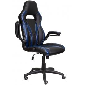 Кресло DRIVE черный/синий