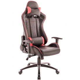 Кресло Lotus S10 красный/черный