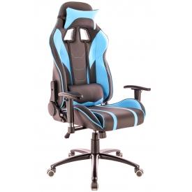 Кресло LOTUS-S16 голубой/черный