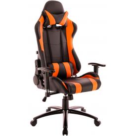 Кресло Lotus S2 PU оранжевый/черный