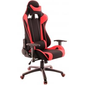 Кресло Lotus S4 Ткань красный/черный