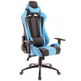 Кресло Lotus S5 голубой/черный