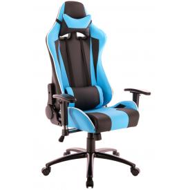 Кресло Lotus S5 PU голубой/черный