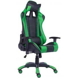Кресло Lotus S9 PU зеленый/черный