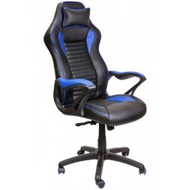 Кресло Spider синий/черный