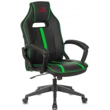 Кресло VIKING ZOMBIE A3 черный/зеленый