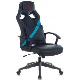 Кресло ZOMBIE DRIVER черный/голубой