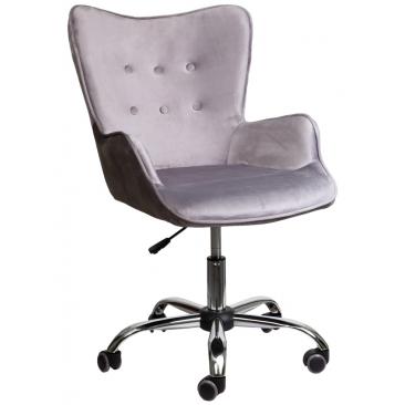 Кресло Bella бархат серый