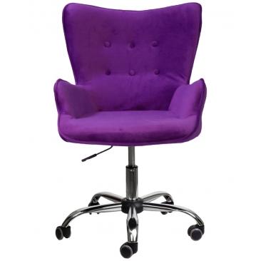 Кресло Bella бархат фиолетовый