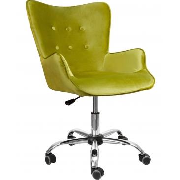 Кресло Bella бархат оливковый