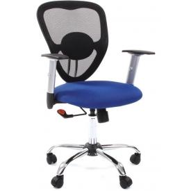 Кресло CH-451 синий/черный