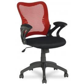 Кресло HLC-0758 красный/черный