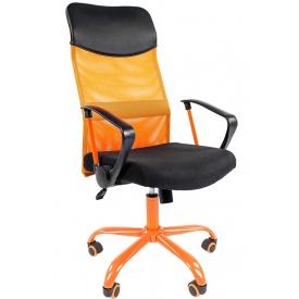 Кресло CH-610 CMet оранжевый/черный