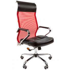 Кресло CH-700 красный/черный