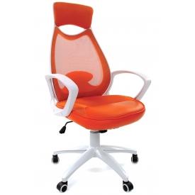 Кресло CH-840 White оранжевый