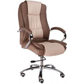 Кресло Klio-T бежевый/коричневый