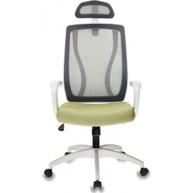 Кресло MC-W411-H/DG/26-32 серый/зеленый