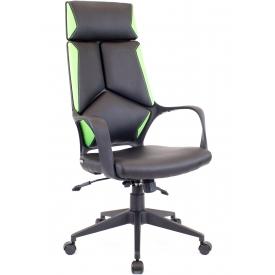 Кресло Trio Black-TM PU зеленый/черный