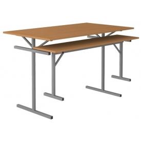 Стол обеденный под лавку 4-х местный (ВхШхГ)760х1200х700