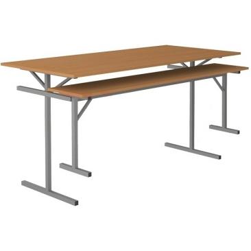 Стол обеденный под лавку 6-и местный (ВхШхГ)760х1500х700