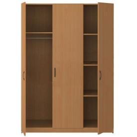 Шкаф 3-х дверный комбинированный (ВхШхГ)1800х1290х520