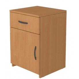 Тумбочка прикроватная с ящиком (ВхШхГ)580х400х380