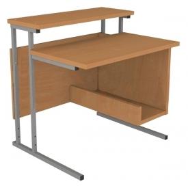 Стол компьютерный на металлокаркасе (ВхШхГ)806х800х665